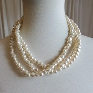 White Beaded Necklace